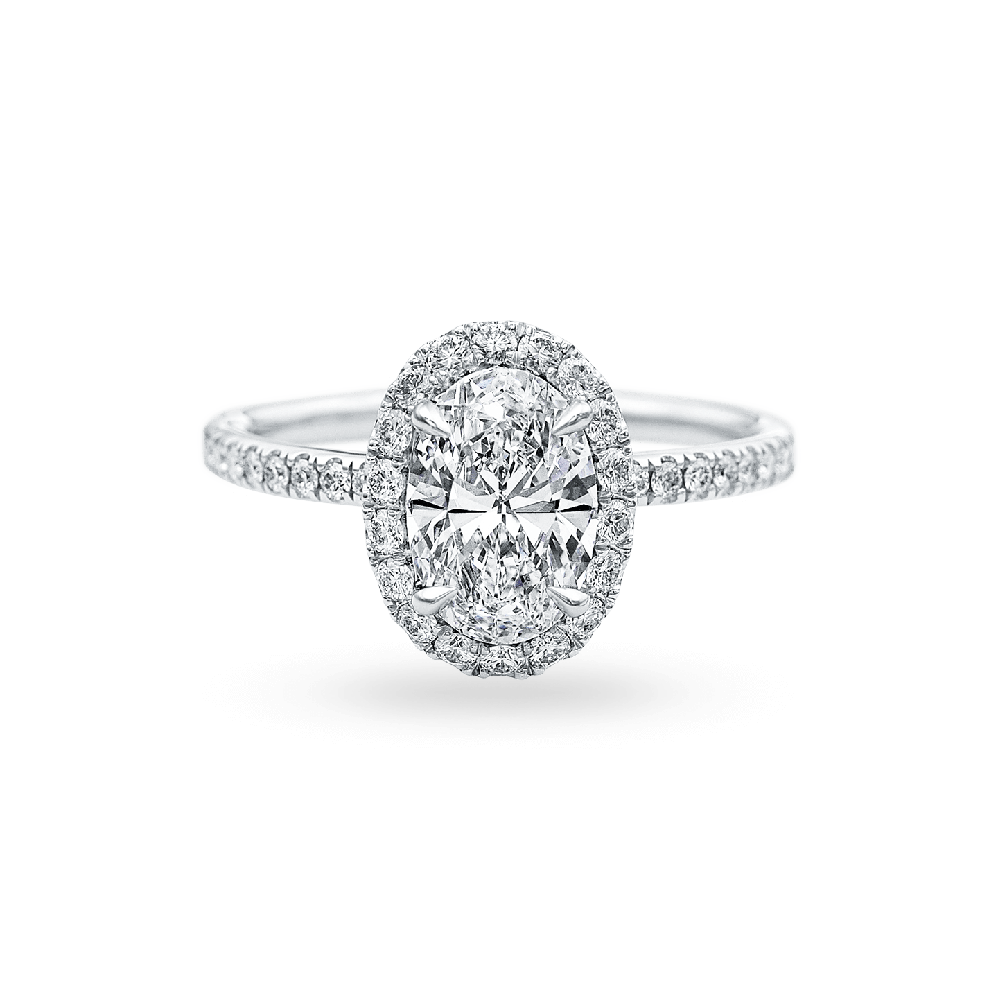 The One Oval-Shaped Diamond Micropavé Engagement Ring, Product Image 1