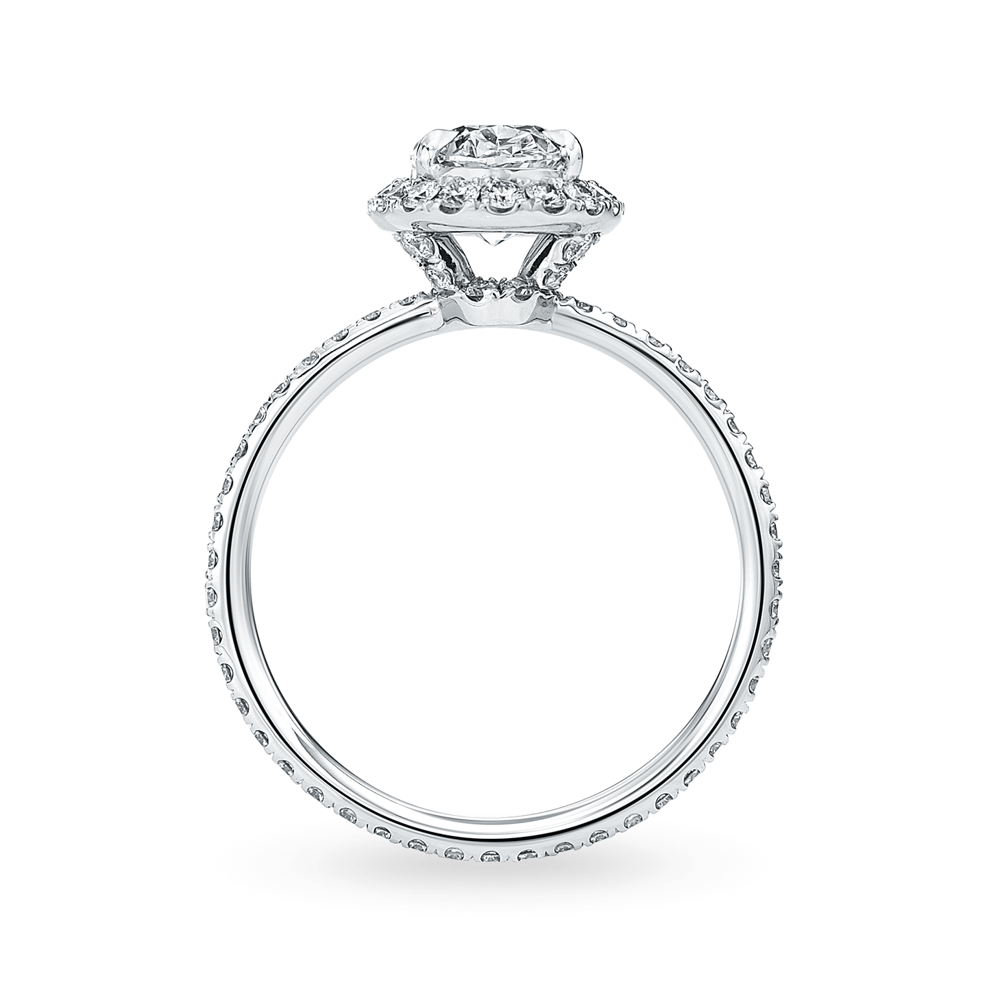 The One Oval-Shaped Diamond Micropavé Engagement Ring, Product Image 2
