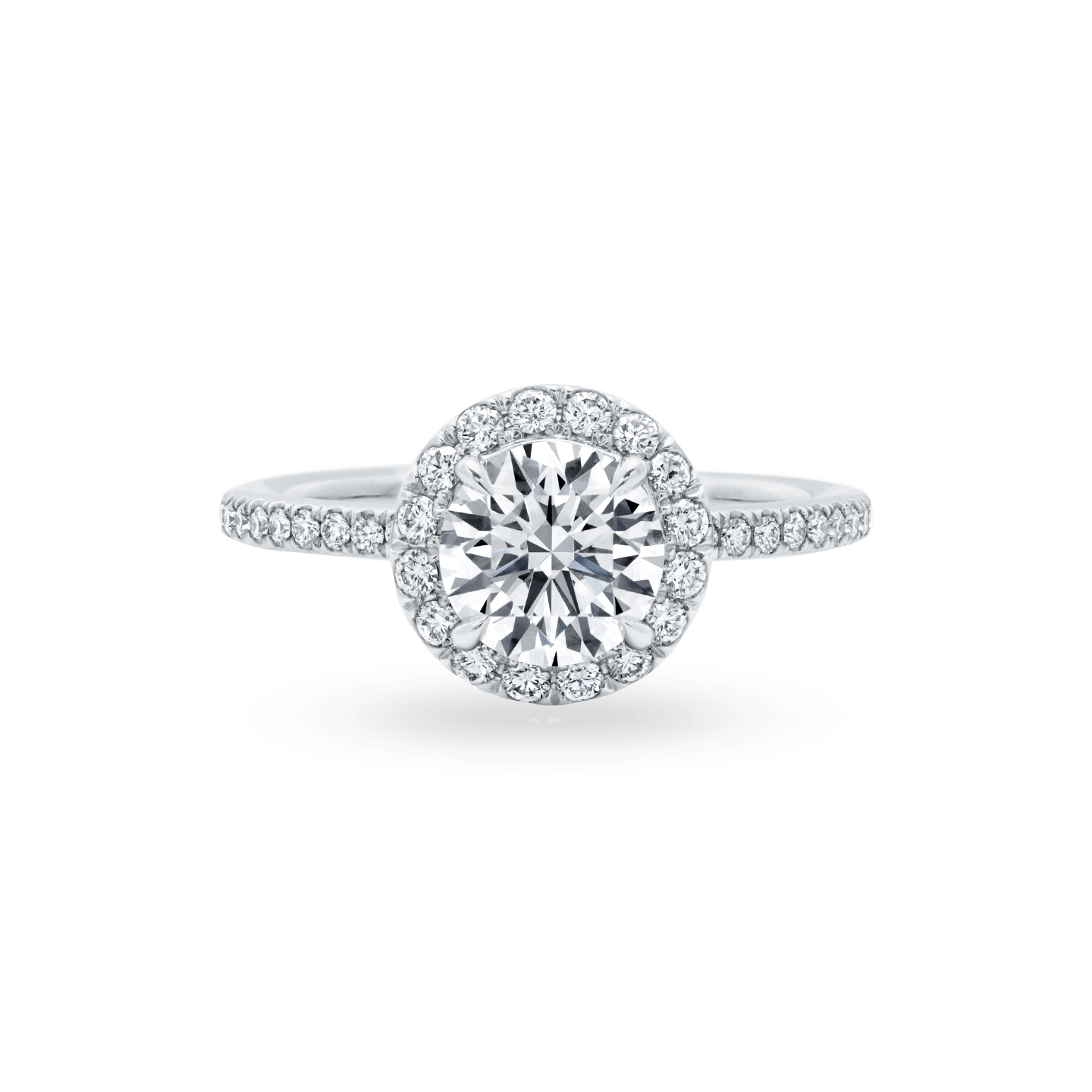 The One Round Brilliant Diamond Micropavé Engagement Ring, Product Image 1