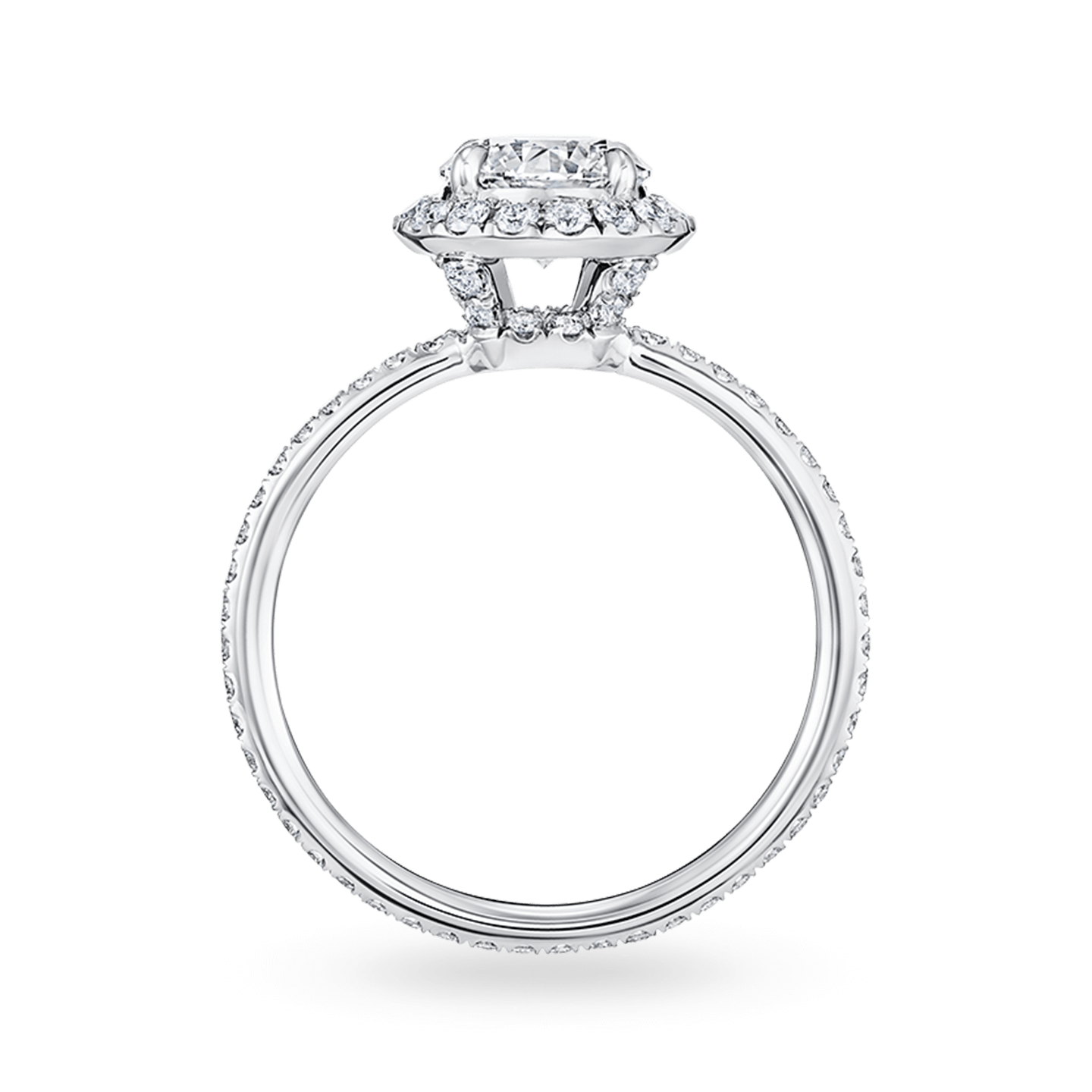 The One Round Brilliant Diamond Micropavé Engagement Ring, Product Image 2