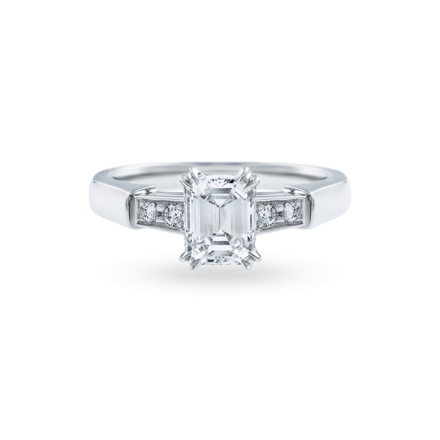 Tryst Emerald-Cut Diamond Engagement Ring, Product Image 1