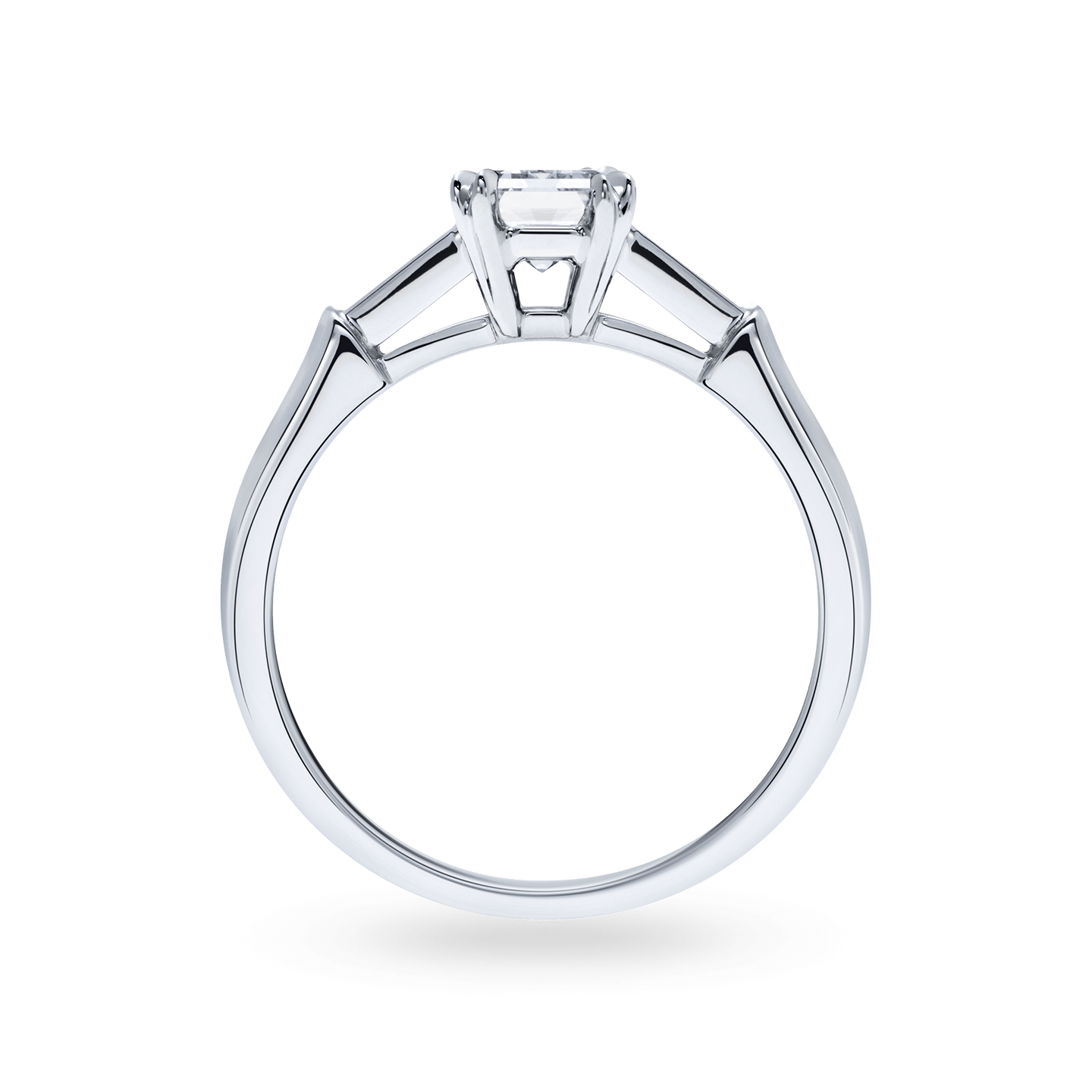 Tryst Emerald-Cut Diamond Engagement Ring, Product Image 2