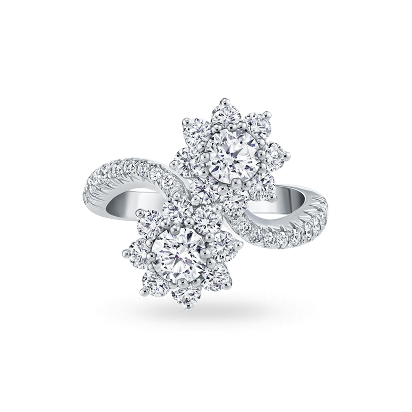Sunflower Diamond Twin Ring, Product Image 1