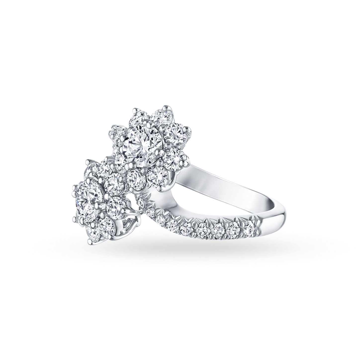 Sunflower Diamond Twin Ring, Product Image 2