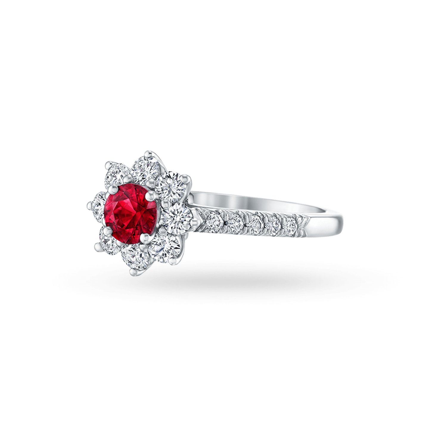 Sunflower Petite Ruby and Diamond Ring, Product Image 2
