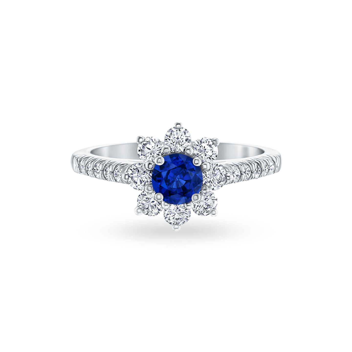 Sunflower Petite Sapphire and Diamond Ring, Product Image 1