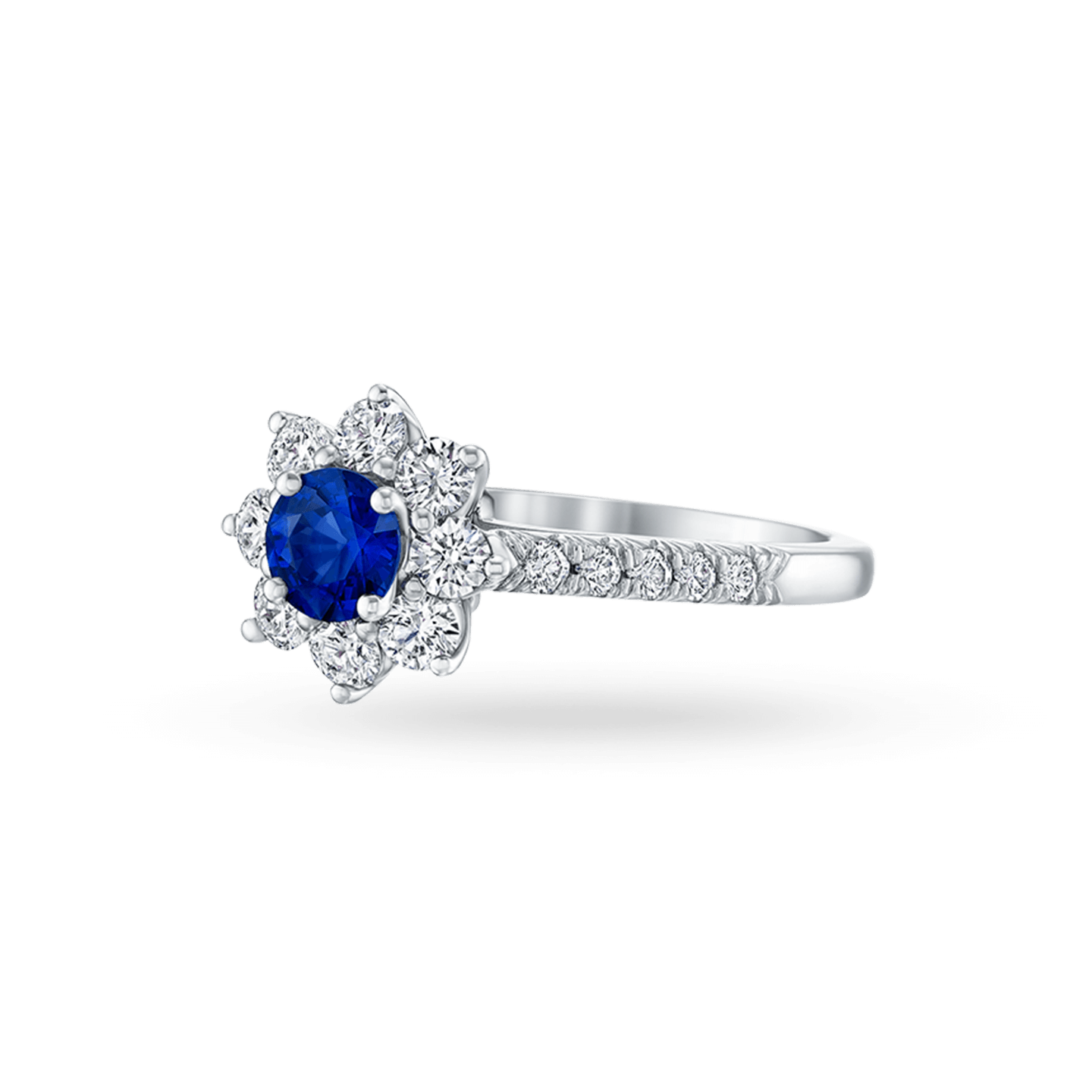 Sunflower Petite Sapphire and Diamond Ring, Product Image 2