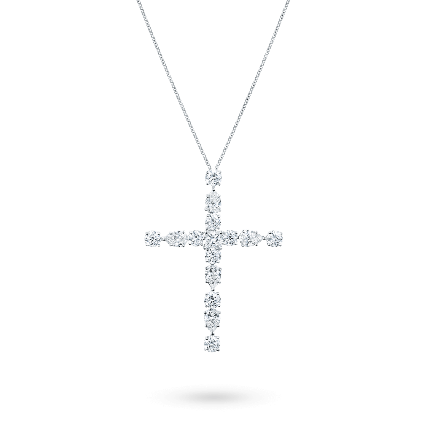 Symbols Large Diamond Madonna Cross Pendant, Product Image 2