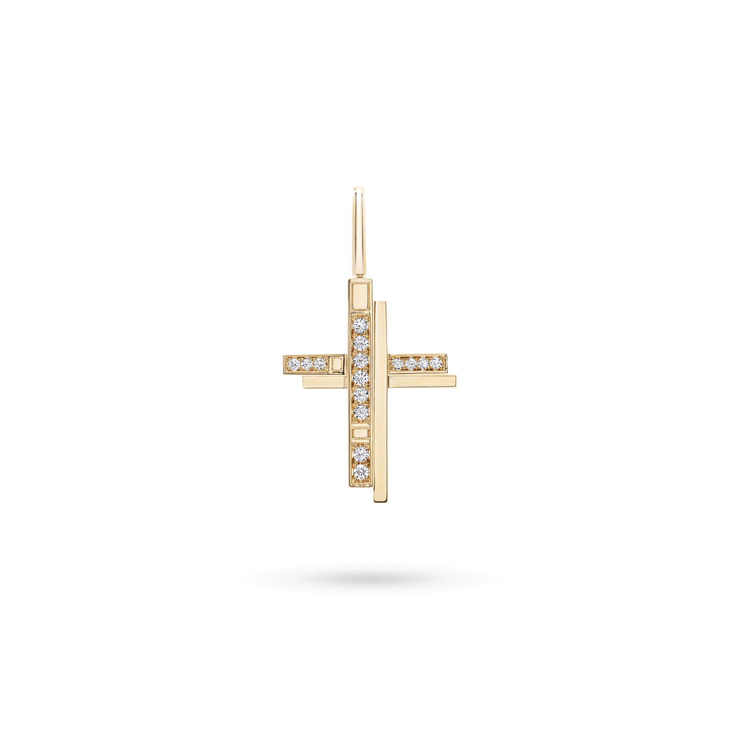 Traffic Cross Charm in Yellow Gold, Product Image 1