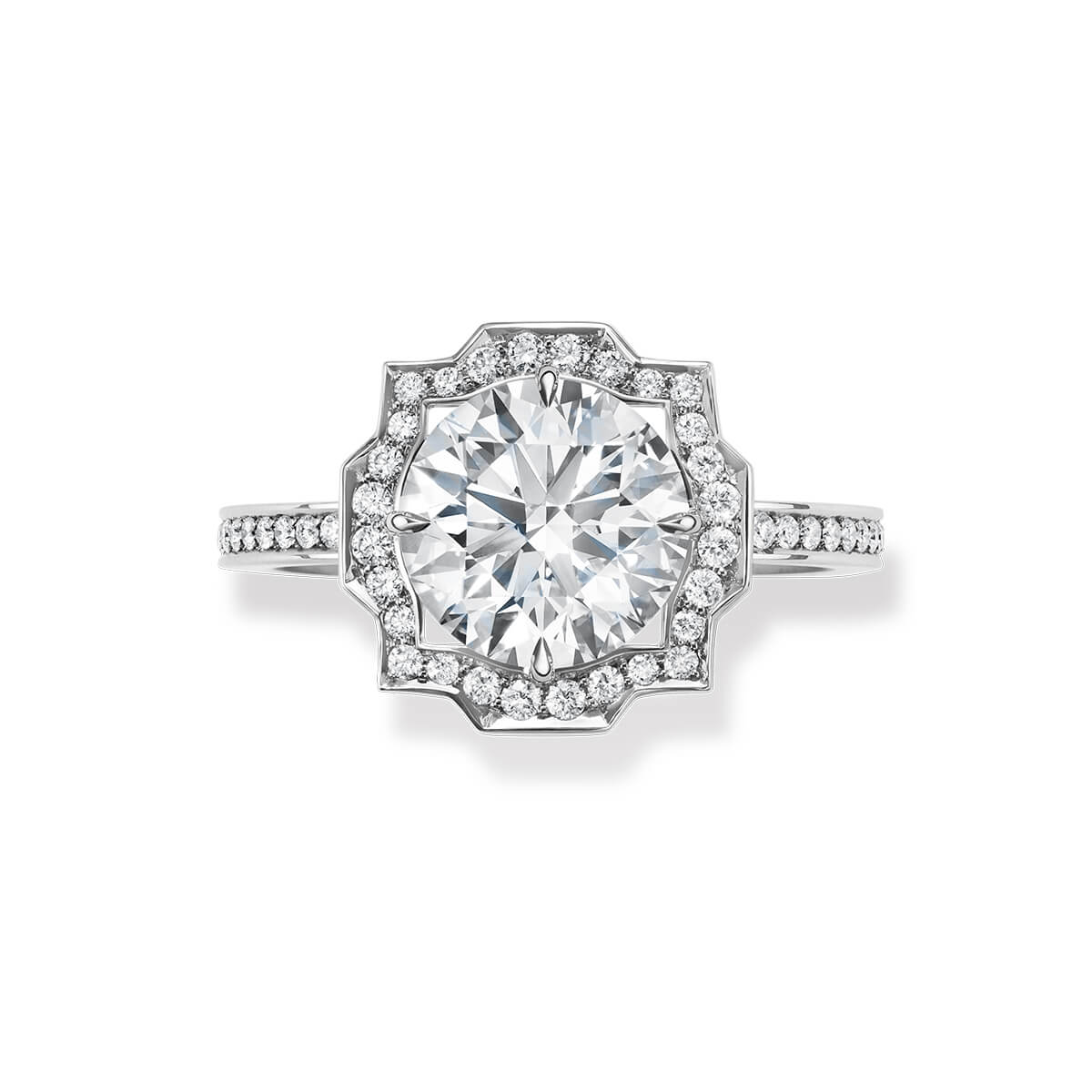 Belle by Harry Winston diamond and platinum engagement ring