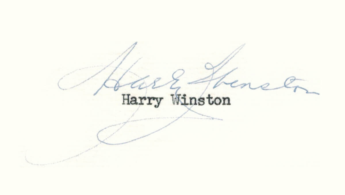 Harry Winston's signature