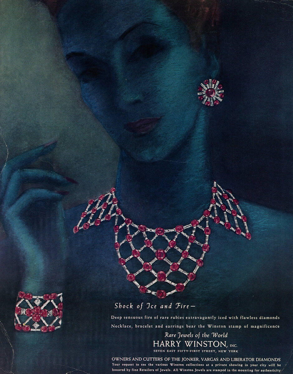 Vintage Harry Winston advertising inspired by Edna Winston