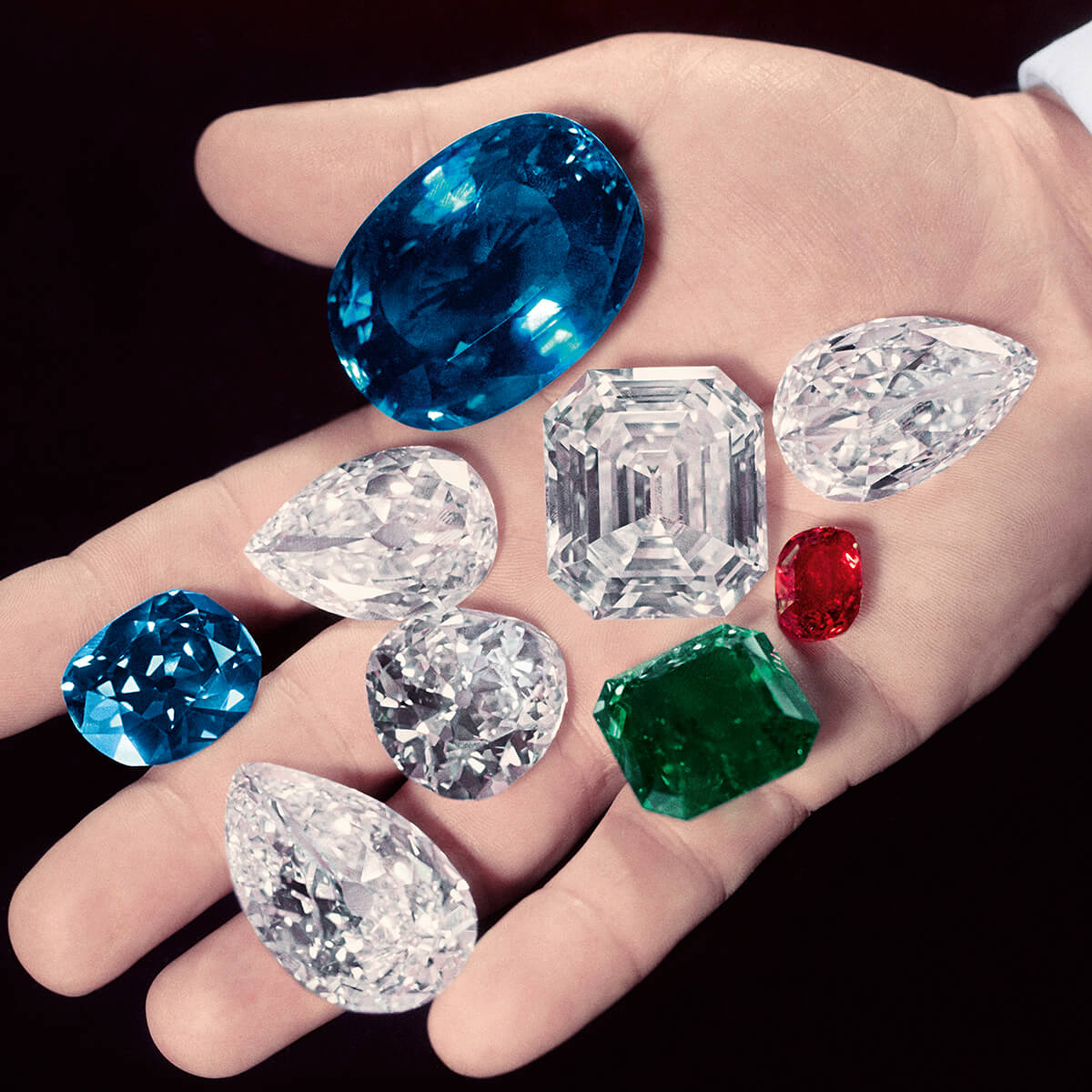 Mr. Winston holds the world's rarest gemstones in the palm of his hand