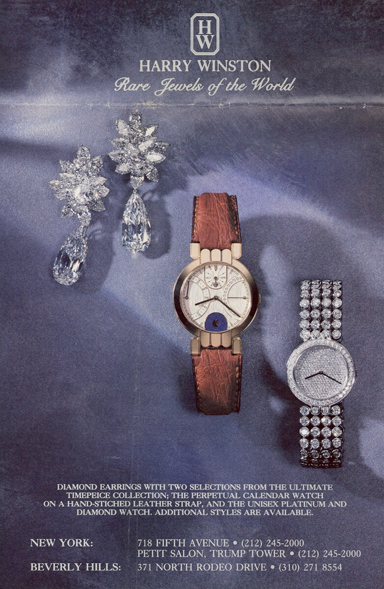 Advertising for the Premier Collection timepieces