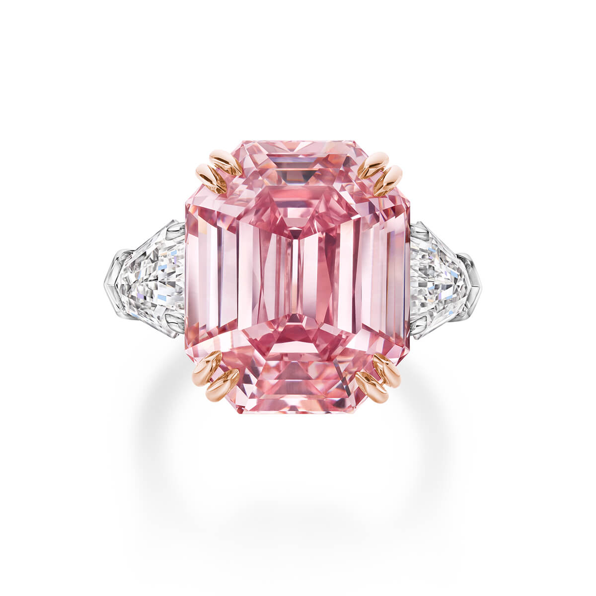 Image of the Winston Pink Legacy a fancy vivd pink diamond weighing 18.96 carats